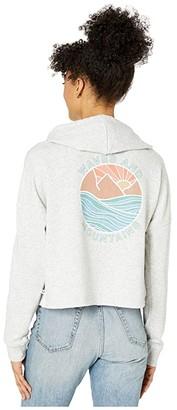 Roxy Neon Sunrise Pullover Sweatshirt (Heritage Heather) Women's Clothing