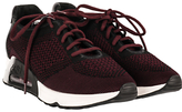 Ash Lucky Concealed Wedge Trainers, Black/Barolo