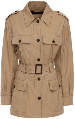 Dolce & Gabbana Stretch Cotton Gabardine Field Jacket