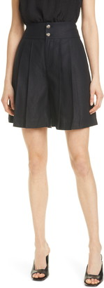Club Monaco Pleated High Waist Shorts