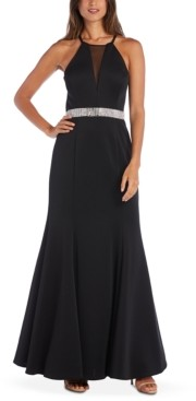 Morgan & Company Juniors' Embellished Strappy Gown