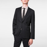 Paul Smith Men's Tailored-Fit Black 'A Suit To Travel In' Wool Blazer