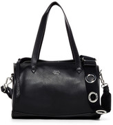 Vince Camuto Chiqi Leather Barrel Grommet Strap Satchel