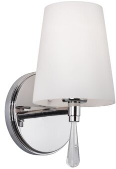 Feiss Monica 1-Light Bath Sconce Finish: Chrome