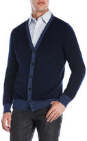 Red Moon Navy Cashmere Cardigan