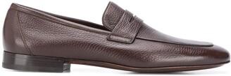 Corneliani Almond Toe Leather Loafers
