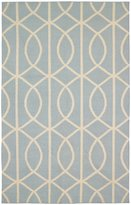 DwellStudio Gate Azure/Cream Rug 5' x 8'