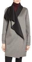 Calvin Klein Women's Double Face Drape Front Coat
