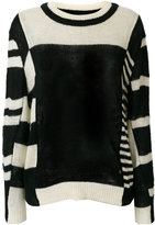 Henrik Vibskov striped panel sweater