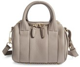 Alexander Wang Mini Rockie Pebbled Leather Crossbody Satchel - Grey