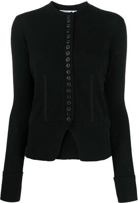 Agnona Fine Knit Button-Front Cardigan