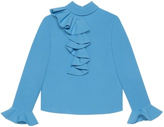 Gucci Shirt with ruffles and bell sleeves