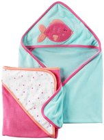 Carter's 2 Pack Hooded Towel (Baby) - Puffer Fish