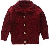 Coodebear Little Baby Boys Cashmere Button Lapel Cardigan Sweater Size 24M