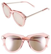 Karen Walker Women's One Star 50Mm Retro Sunglasses - Clear With Silver