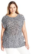 Lucky Brand Women's Plus Size Marled Pullover