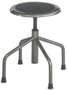 Safco Products Company Diesel Series Backless Low Base Height Adjustable Industrial Stool
