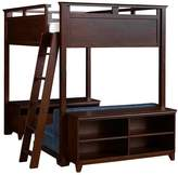 Pottery Barn Teen Hton Loft Set With Cushy & Base, Full, Denim w/ Dark Espresso Base