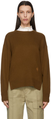 Chloé Khaki Cashmere Dropback Sweater