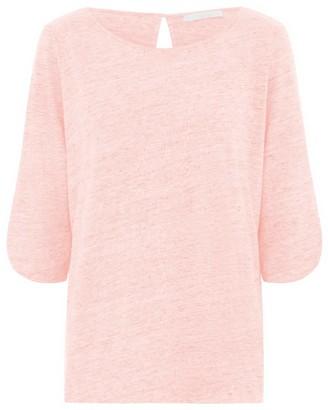 Les 100 Ciels Kat Linen Top In Pink