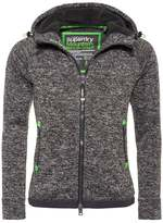 Superdry Storm Cardigan Charcoal Grit