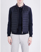 Moncler Cardi Quilted Shell And Cotton-jersey Jacket