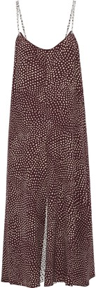 Rag & Bone Dirdre Pleated Printed Crepe Midi Slip Dress