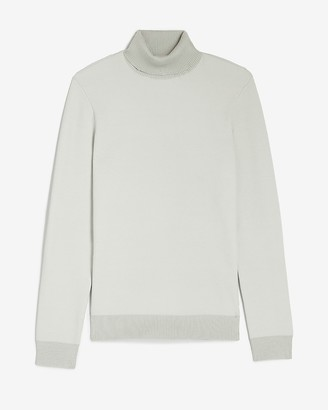 Express Plaited Rayon Stretch Turtleneck Sweater