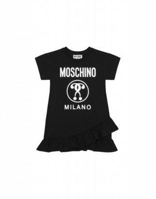 Moschino Double Question Mark Dress Woman Black Size 4a It - (4y Us)