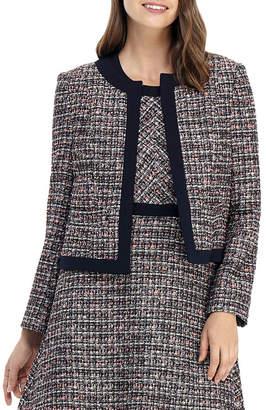Gal Meets Glam Jewel-Neck Tweed Jacket