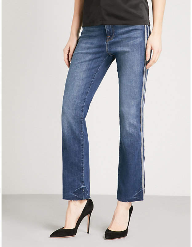 Good American Good Straight athletic regular-fit high-rise jeans