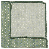 Brunello Cucinelli Dotted Print Wool Pocket Square