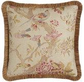 "Legacy Arielle Floral/Bird Pillow, 20""Sq."