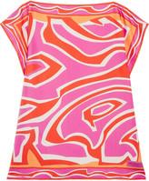 Emilio Pucci Printed Silk-twill Coverup - Fuchsia
