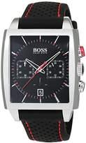 HUGO BOSS Men's Chronograph Quartz Watch with Leather Strap – 1513356