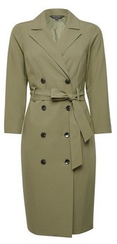 Dorothy Perkins Womens Soft Khaki Trench Dress
