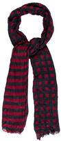 Yigal Azrouel Red Striped Scarf