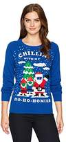 Hybrid Apparel Women's Ho Homies Selfie Holiday Sweater