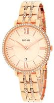 Fossil ES3546 Women's Jacqueline Stainless Steel Watch with Crystal Accents