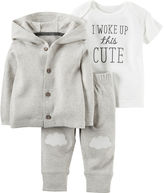 Carter's 3-pc. Neutral Cardigan Set - Nb-24M