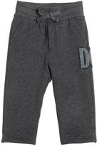 Dolce & Gabbana Logo Patch Cotton Jogging Pants