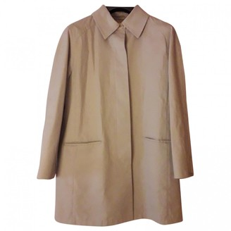 Max Mara Weekend Beige Cotton Trench Coat for Women Vintage