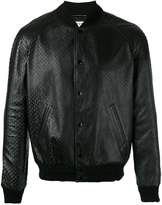 Saint Laurent textured leather bomber jacket