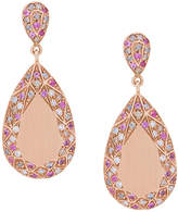 Carolina Bucci Pave Frame Pear Cut earrings