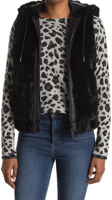 BCBGeneration Faux Fur Hooded Vest