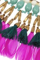 Isabel Marant Kayapo gold-tone feather necklace