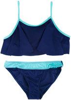 Duskii Girl Darcy frill crop bikini set