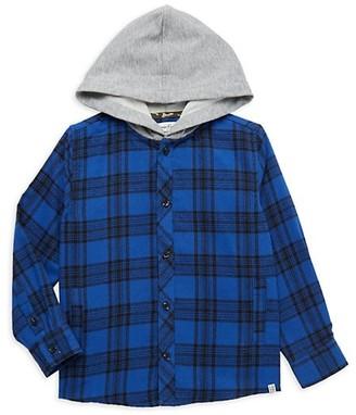 Sovereign Code Little Boy's Hooded Flannel Shirt