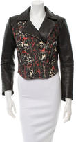Preen Patterned Leather Jacket