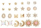 Charlotte Russe Embellished Celestial Stud Earrings - 12 Pack